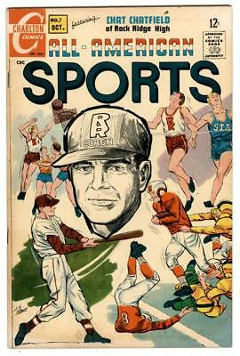 All-American Sports #1 Oct 1967 Charlton 1-shot Chat Chatfield Gregg Wallace 113