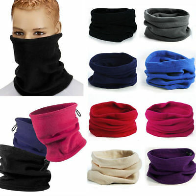 3in1 Winter Thermal Fleece Scarf Snood Neck Sport Warmer Face Mask Beanie Hat hs
