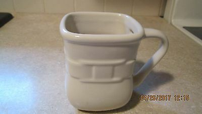 Longaberger Ivory Woven Soft Square Mug Traditions  Pre-Owned