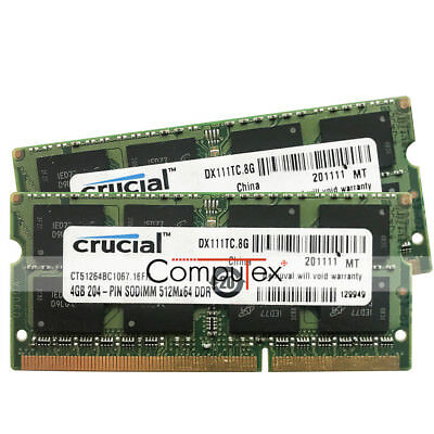 Au 8gb 2x4gb Pc3 8500 Ddr3 1066 204pin Macbook Pro Mid