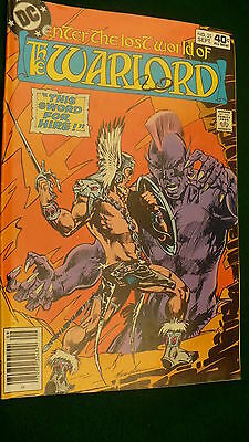 The Warlord Vol 4 No 25  bronze age September 1979 DC Super Star hero Mike Grell