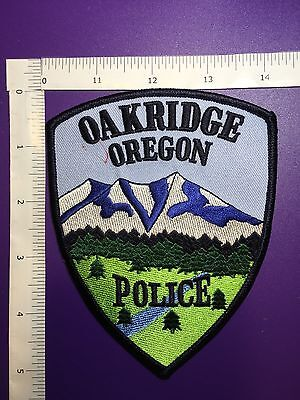 Oakridge Oregon  Police  Shoulder  Patch