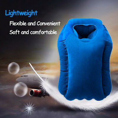 Air Filled Support Pillow Neck Cushion Airplane Comfortable Travel Inflatable