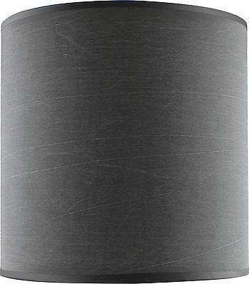 Slate Grey Fabric Drum Shade Small 20cm