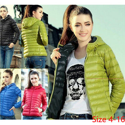 New Women Slim Thick Padded Jacket Padded Coat Short Outwear Size4-16 T8895