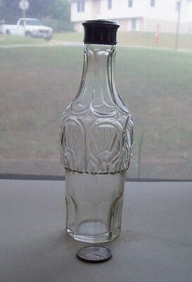 Nice Victorian  Fancy Condiment Bottle With Working Metal Top