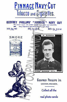 BARROW Rugby League - Pinnace 1920's repro advertising cards
