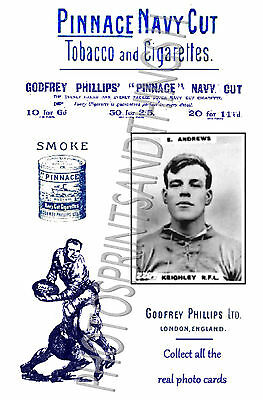 KEIGHLEY Rugby League - Pinnace 1920's repro advertising cards