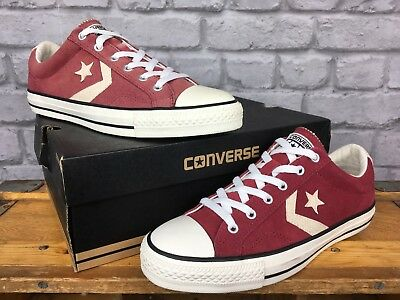 d46682bb876 Converse Star Player Ii Ox Burgundy Suede Trainers Mens Ladies Various Sizes
