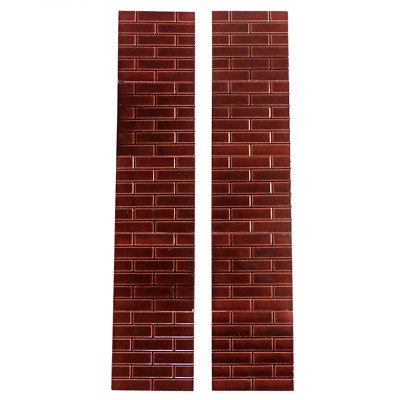 OT127 - Antique Red Glazed Brick Victorian Fireplace Tiles