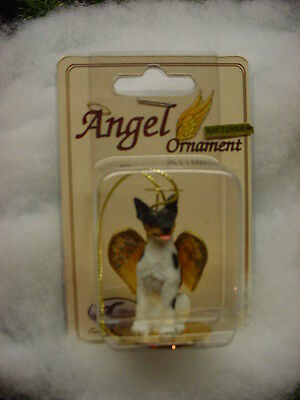 RAT TERRIER dog ANGEL ORNAMENT Resin Figurine Statue NEW Christmas Holiday.puppy