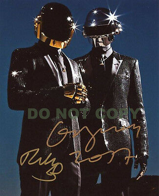 REPRINT RP 8x10 Signed Autographed Photo: DAFT PUNK