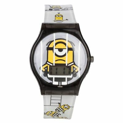 Official Licensed Despicable Me 3 Minions All Over Print LCD Wristwatch