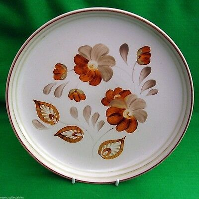Denby Glyn Ware Plate, Vintage 1950's 60's Dinner Hand Painted Glyn Colledge