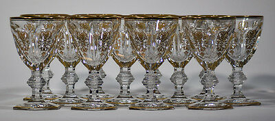 12 Baccarat Harcourt Empire Water Goblets