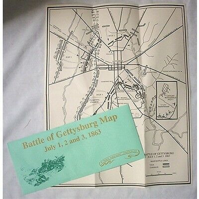 CIVIL WAR  BATTLEFIELD MAP of GETTYSBURG  AUTHENTIC REPO ON PARCHMENT PAPER NEW