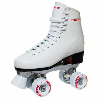 New Freesport Classic Quad roller skates Womens Boot White Size 6.  uk 39