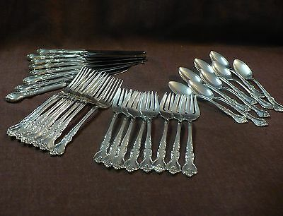 Savannah Sterling flatware set for 8