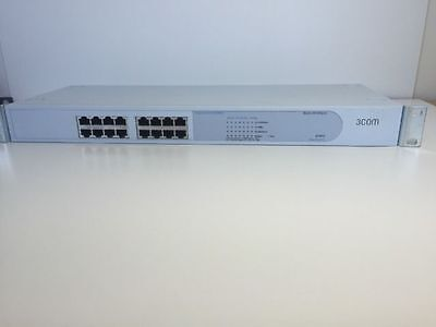 3Com 3C16464C SuperStack 3 Baseline 10/100 Switch 12-Port with Rack Ears