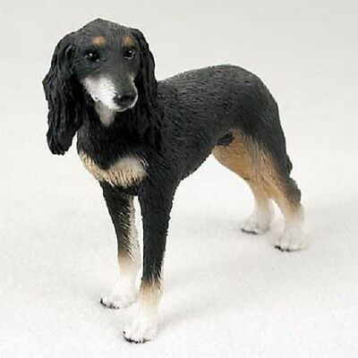 SALUKI Dog HAND PAINTED FIGURINE Resin Statue COLLECTIBLE Puppy NEW