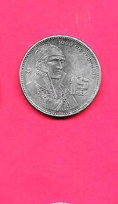 Mexico Mexican Km496 1986  Xf-Au Super Fine-Excellent Old Large Peso Coin
