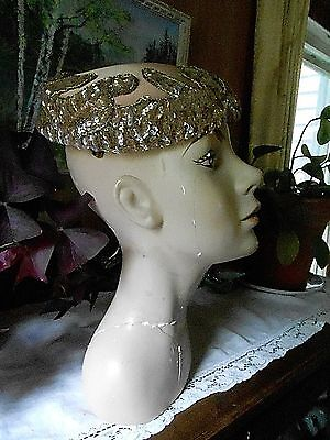Vintage 1950's Stunning Satin and Sequin HAT
