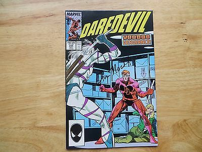 1987 Vintage Marvel Daredevil # 244 Signed By Ann Nocenti, With Poa