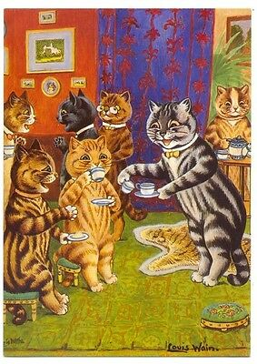 Louis Wain  Cat Tea Party  Victoria &  Albert Museum    Postcard