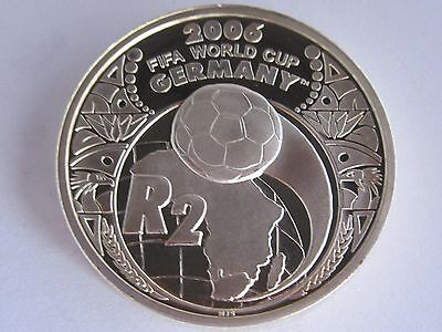 2005 South Africa 2 Rand FIFA World Cup Silver Coin, BU