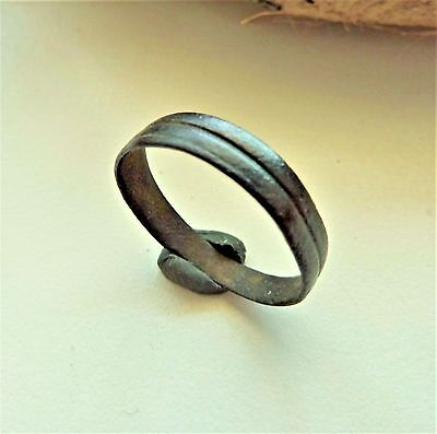 Medieval bronze ring  (134).