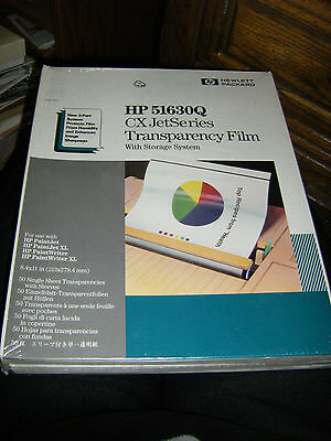 New Old Stock HP 51630Q CX Jet Series Transparency Film With Storage System 50