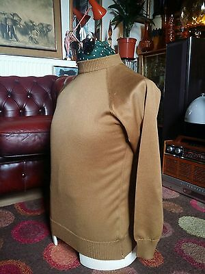 Vintage Rare 1960's Ivy League Mod Jazz Zipped Turtle Neck Sweater Jumper,Small