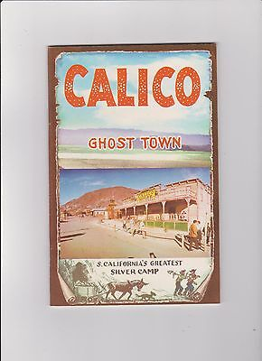 1x Vintage Booklet Calico Ghost Town Southern California 1959 Silver Camp