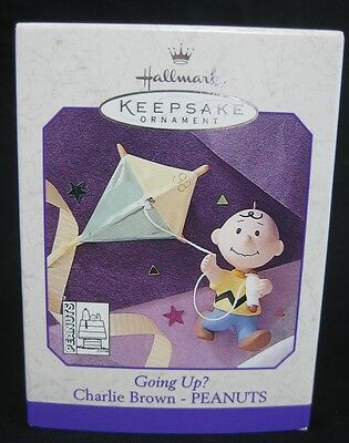 1998 Hallmark Christmas Tree Ornament Charley Brown Peanuts Going Up Handcrafted