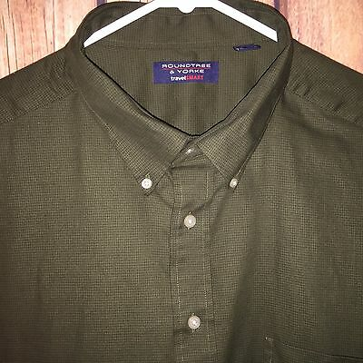 Euc Mens Roundtree & Yorke Travel Smart L/s Button Down Shirt 3Xlt Tall