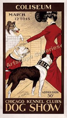 Chicago Kennel Club Vintage Style Dog Show Poster 24x42