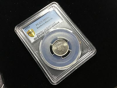 Pcgs Ms 66 Six 6 Pence 1951 Southern Rhodesia 38496