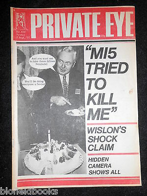 PRIVATE EYE - Vintage Satirical Political Humour Magazine - 2nd September 1977
