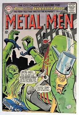S255. METAL MEN #13 by DC Comics 5.5 FN- (1965) SILVER AGE, 12 Cent Issue