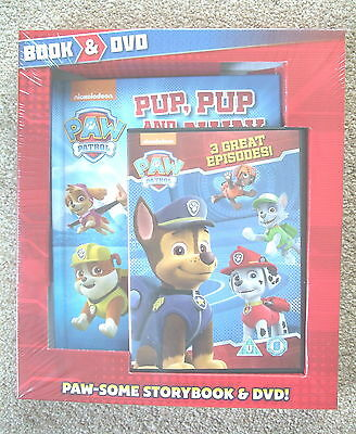 Nickelodeon Paw Patrol Book and DVD - NEW SEALED