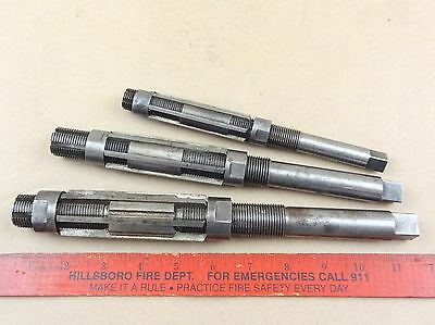 Nice Lot Of 3 Adjustable Reamers Cutters Metal Cutting Machinist Lathe Tools