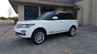 2015 Land Rover Range Rover Supercharged Sport Utility 4-Door 2015 RANGE ROVER SUPERCHARGED, BLACK TOP, POWER BOARDS, LOADED