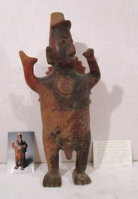 "LARGE 21"" PROTOCLASSIC 100 BC - 250 AD Pre-Columbian COLIMA STANDING MALE FIGURE"
