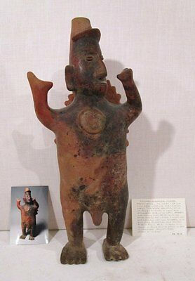 "LARGE 21"" TALL PROTOCLASSIC 100 BC - 250 AD Pre-Columbian COLIMA PRIEST  FIGURE"