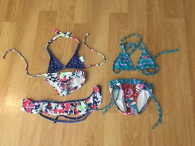 set of 2 ROXY girls size 3T and 4T two piece bikini bathing suits CUTE