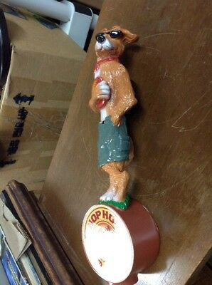Hop Hound Amber Wheat Dog Frisbee Beer Tap Handle