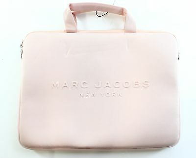 """Marc Jacobs NEW Pale Blush Pink Neoprene 13"""" Travel Computer Case Bag $125- #033"""