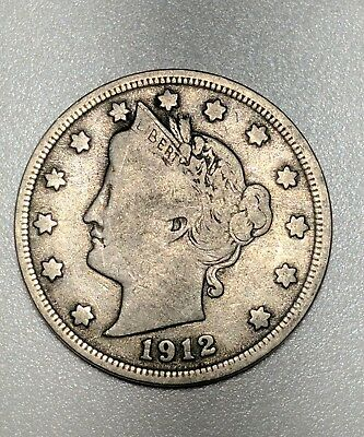 1912-D Liberty Nickel Nice Coin - Better Condition - No Reserve Low Combined S/H