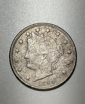 1890 5C Liberty Nickel Damaged No Reserve Low Combined Shipping