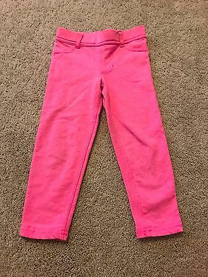Carter's brand toddler girl size 3T bright pink jeggings cotton/polyester/span